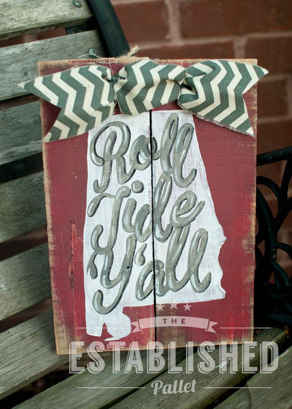 Roll Tide Y'all by TheEstablishedPallet on Etsy, $20.00