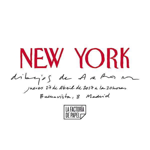 """Realizado por cglautre para la exposición """"New York. Dibujos de Arranz"""""""