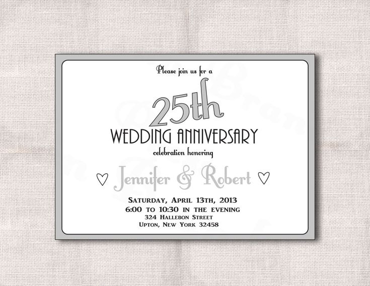Surprise Wedding Anniversary Invitations: Surprise 25th Wedding Anniversary Invitation Templates