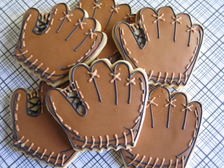 Baseball / Football / Sports Decorated Sugar Cookies 1 Dozen. $34.95, via Etsy.