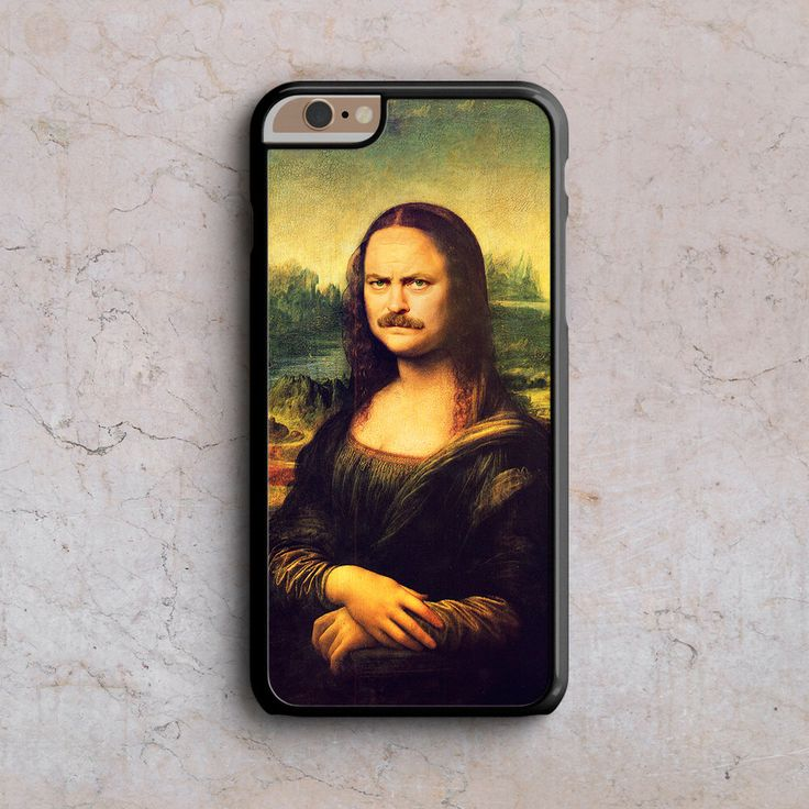 Mona Lisa Ron Swanson iphone 6s case funny iphone case iphone 6 case iphone 6 plus case cool iphone case 1M067A by SwegShop on Etsy https://www.etsy.com/listing/206714392/mona-lisa-ron-swanson-iphone-6s-case
