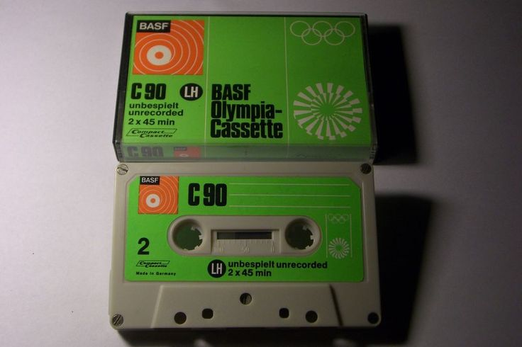 BASF OLYMPIA VINTAGE  AUDIO CASSETTE TAPE ( USED ) RARE ! GERMANY #BASFOLYMPIAC90