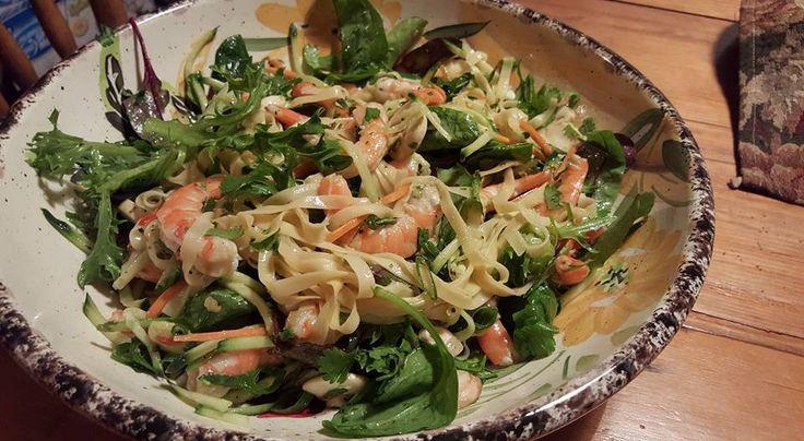 Prawn & Spinach Fettuccini