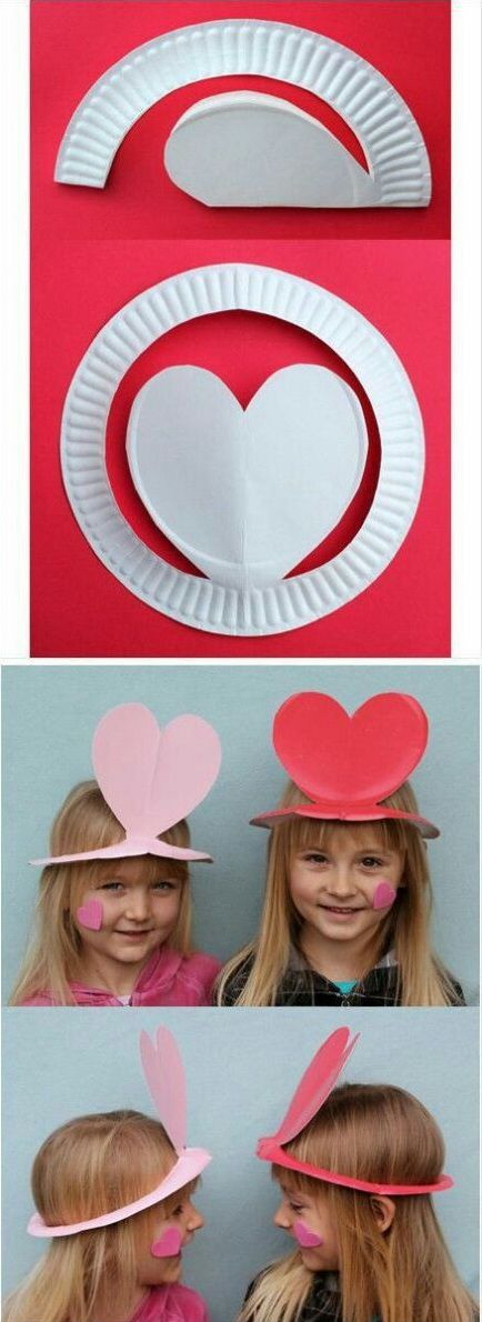 how to make paper plate hats