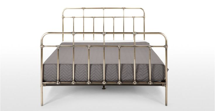 Starke Double Bed, Brass | made.com