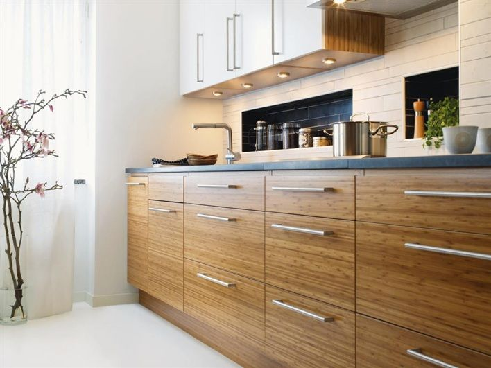 17 best ideas about bamboo cabinets on pinterest mid for Modern teak kitchen cabinets