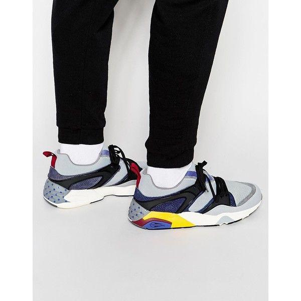 Puma Blaze of Glory Street Sneakers featuring polyvore, men's fashion,  men's shoes, men's