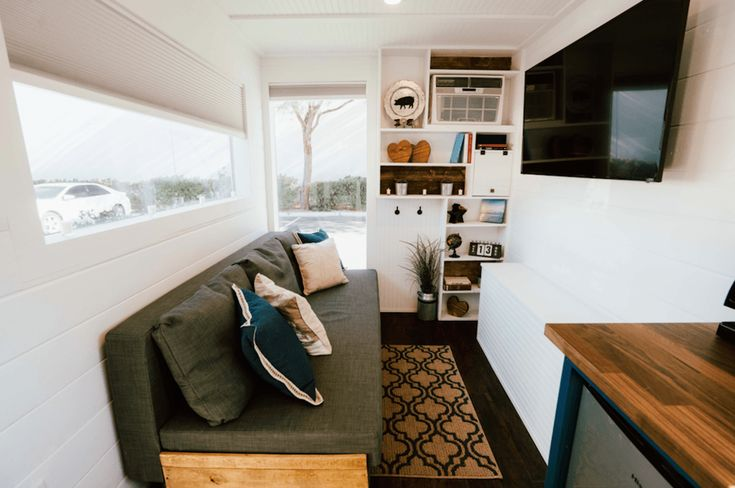 Selling a new 20′ Shipping Container Tiny Home. This unit is fully loaded with full bathroom, kitchen area, living/sleeping area. – 9000 btu ac/heater – Stove top, fridge, microwave – Sofa that converts into a QN size bed. – Customized furniture: sofa, vanity, clothing unit, shelving etc. This is a luxury container built with top… #LuxuryFridges
