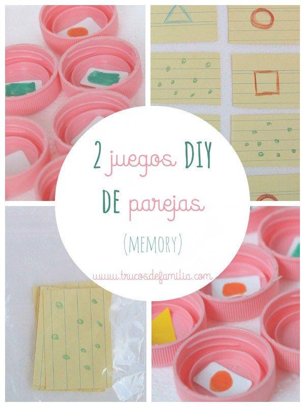 Dos juegos DIY de parejas (memory) que se hacen en minutos. Ideal para tardes de lluvia y para viajes.