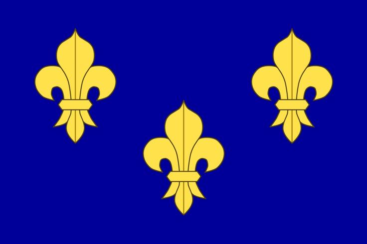 French flag or Royal Banner ... before the revolutiom