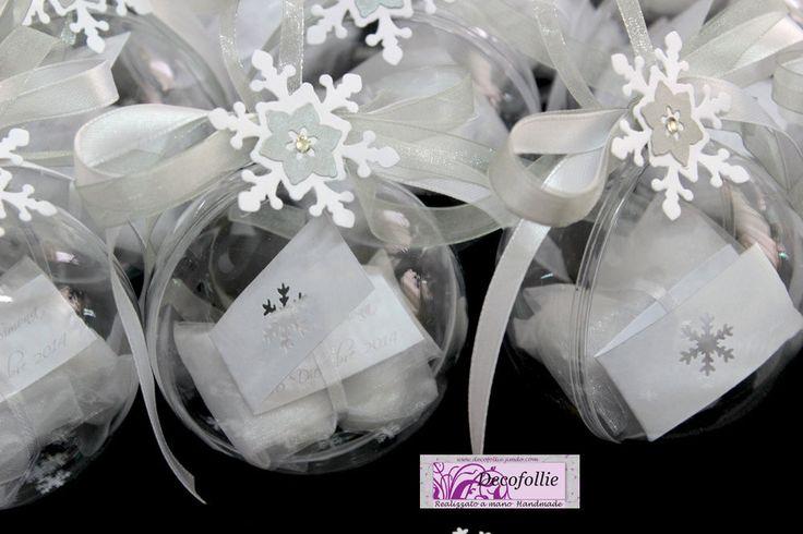 Sfere bomboniere nozze o segnaposto su www.decofollie.jimdo.com
