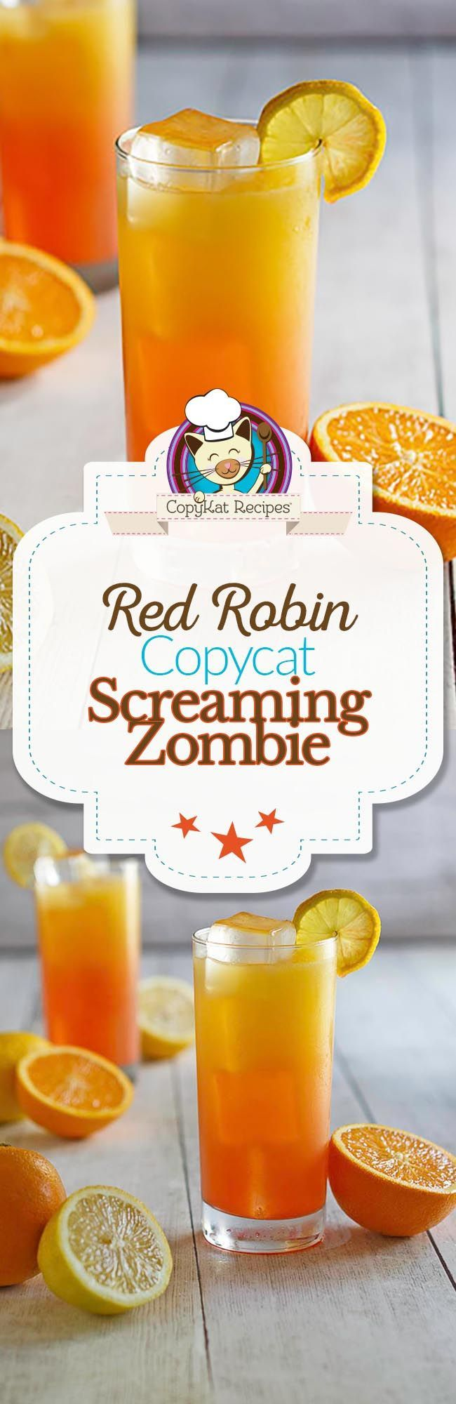 You can recreate the famous Red Robin Screaming Zombie drink at home with this easy copycat recipe.