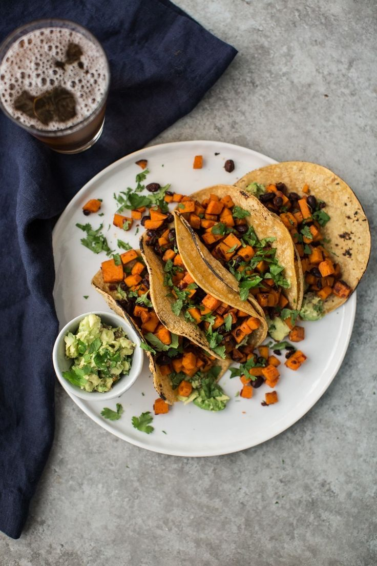 sweet potato tacos with black beans and guacamole sweet potato tacos ...