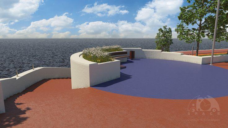 Project & 3d-vis The Embankment of Saky Lake. Crimea. (2015-2016)
