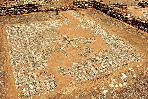 Vergina Sun - A copyrighted Pan-Hellenic National Symbol of Greece  Macedonia, the macedonian star in Olynthos, Greece  #Vergina #Pan-Hellenic #National #Symbols #Mosaic #Macedonia #Macedonian #art #ancient #ruins   History of Macedonia the ancient Kingdom of Greece