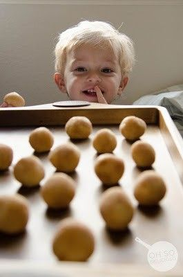 Soft Snickerdoodle Cookies.. Nope.. Not pinning this for the recipe, pinning this because this little cutie looks identical to my cutie-pie-little-nephew! What a sweet face! (soft sugar cookie recipe betty crocker)