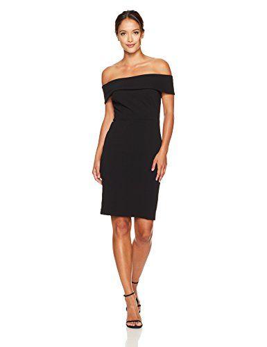 3e0872c2c3beb Calvin Klein Women s Petite Seamed Off the Shoulder Dress