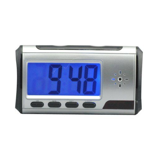 YYCAM Alarm Clock LCD Display Mini Hidden Camera Voice Video Recorder Motion Detection with Remote Control