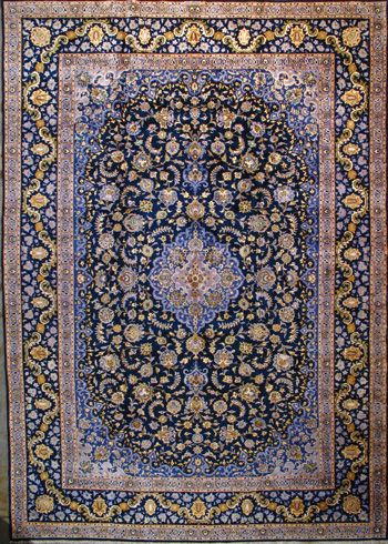"""Kashan Persian Rug, Buy Handmade Kashan Persian Rug 11' 6"""" x 16' 5"""", Authentic Persian Rug $5,508.00"""