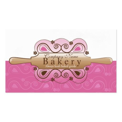 371 best bakery business cards images on pinterest bakeries bakery business card reheart Images