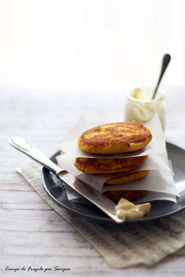 Tortini di zucca, porri e patate