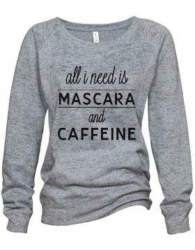 """""""Mascara"""" Athletic Heather Burnout Fleece Sweatshirt $37"""