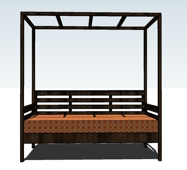 Outdoor Daybed Construction Plans Woodworking Projects