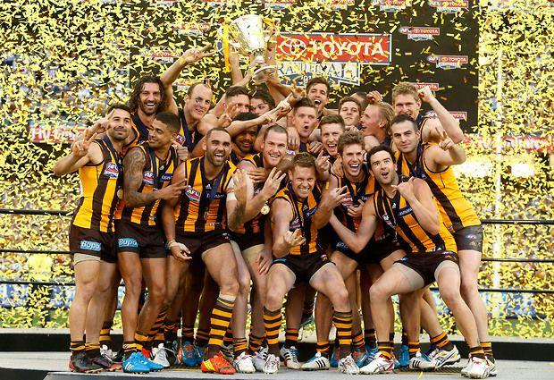 Hawks celebrate their win. 2014