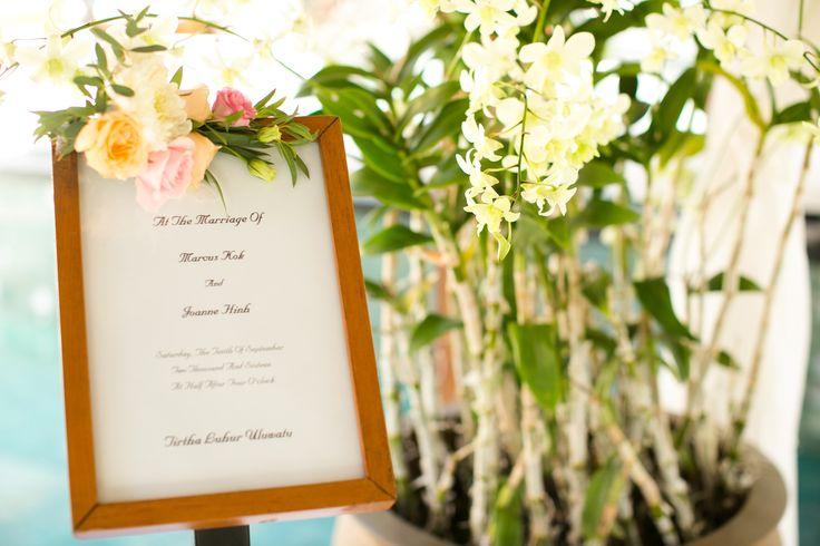 Rose, Lisianthus & Chrysanthemum adorning on Signage
