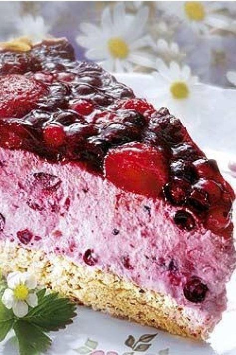 Beeren Frischkasetorte Rezept Kuchen Und Torten Kuchen Und Torten Rezepte Frischkasetorte