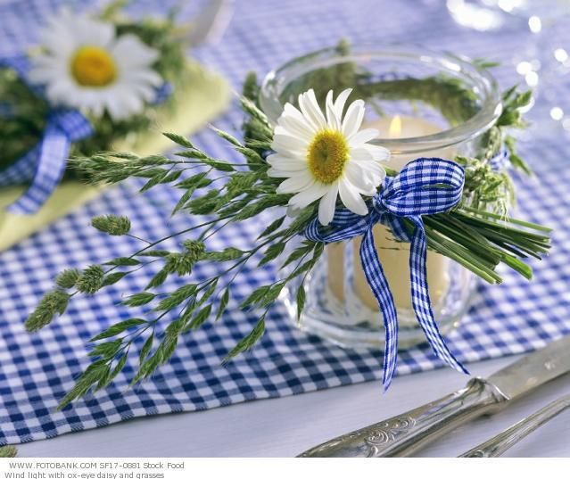 Simple, fresh candle holders..use a bunch together for a sweet tablescape