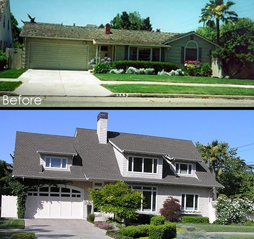 Second floor additions before and after edwin bruce for Second floor addition before and after
