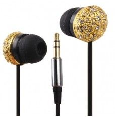 Metal Version of the Diamond Circular 3.5mm Plug in-Ear Earphone for iPod / iPhone / MP3 / MP4, Cable Length: 1.2m (Golden) headphones | headphones aesthetic | headphones wrap | headphones drawing | headphones art | L&L | Alexis Price | Danny Brown | Headphones | Headphones | Headphones |