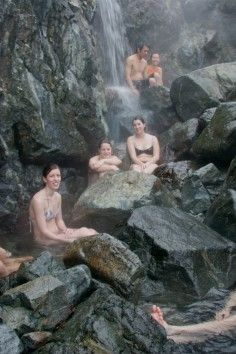Warm up in a naturally hot waterfall! Hot Springs Cove (Tofino Hot Springs), British Columbia