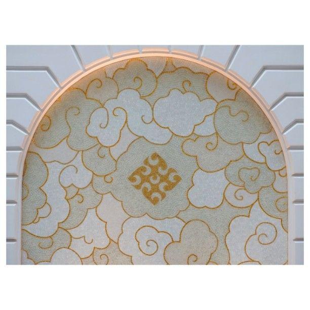 #sicis #mosaic #prestigehotelbudapest #lobby #interiordecoration #gold #white