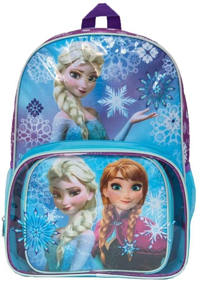 Blue 16 Inch Disney Tween Frozen Backpack for Kids