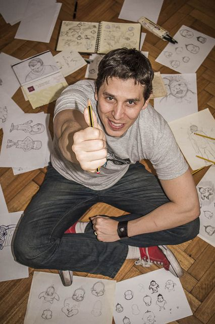 Retrato de un dibujante by ManuLamas, via Flickr
