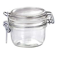 """Fido jar is 2"""" deep, 2-1/2"""" bottom diameter and with lid stands 2"""