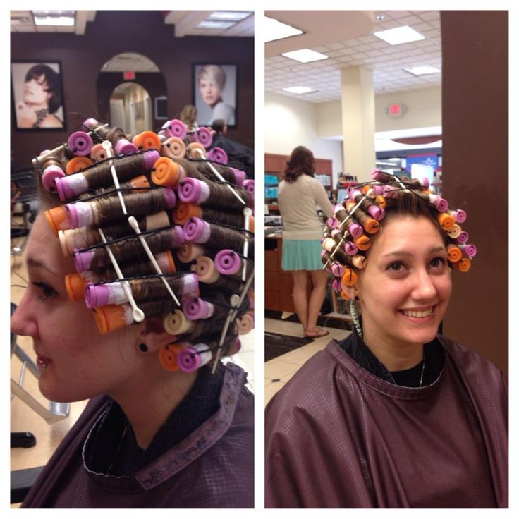 432 best perming images on pinterest perm rods rollers and piggyback perm wrap on lavender and orange rods urmus Gallery