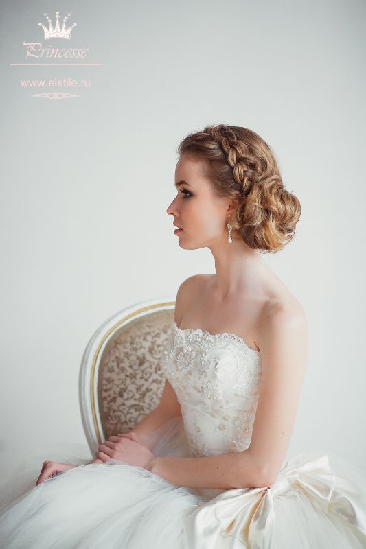 Wedding hairstyles ~ side netting with beam passing