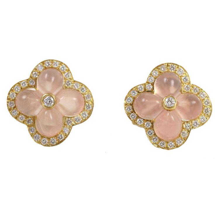 14 best Rose Quartz Earrings images on Pinterest