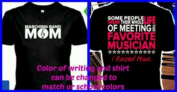 Marching Band MOM shirt by BlingU on Etsy, $22.00