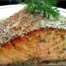 Baked Salmon with Mustard-Dill Sauce II Recipe