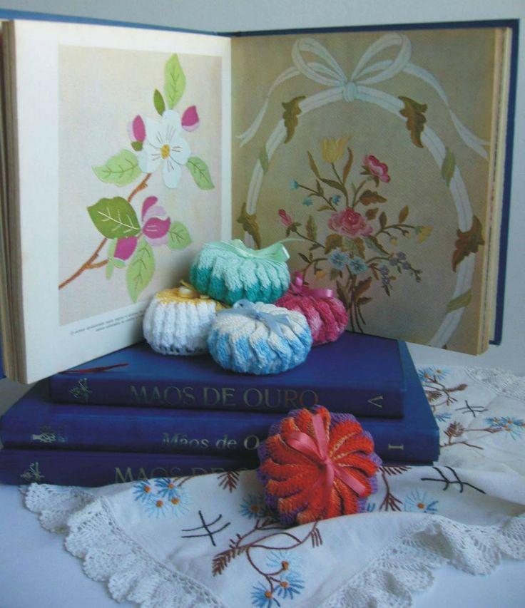CROCHÊ - SACHÊ PARA SABONETE REDONDO: Other, Bag, Felt, Quaver, Crochet Pattern, Patch