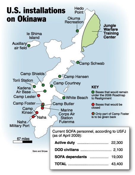 Major Blow To USMC Move From Okinawa Okinawa USMC And Tokyo - Us air force bases in japan map