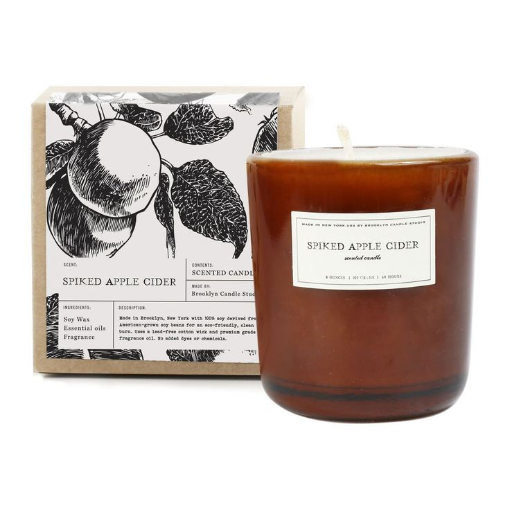 Brooklyn Candle Studio Amber Glass Candle | Spiked Apple Cider