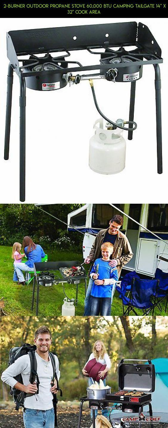 """2-Burner Outdoor Propane Stove 60,000 BTU Camping Tailgate 14"""" X 32"""" Cook Area #cooking #products #parts #fpv #outdoor #drone #racing #technology #plans #tech #gadgets #camera #area #shopping #kit"""