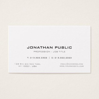 Professional Simple Creative Chic Plain Modern Business Card - attorney lawyer business personalize unique counsel