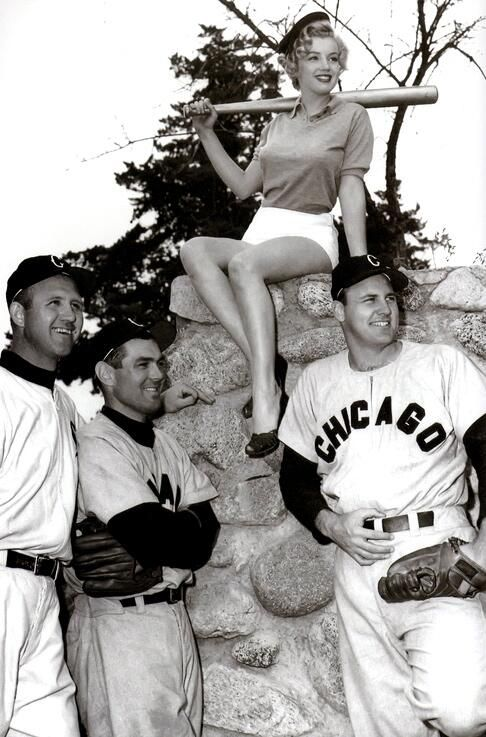 Marilyn Monroe at spring training with the Chicago White Sox.