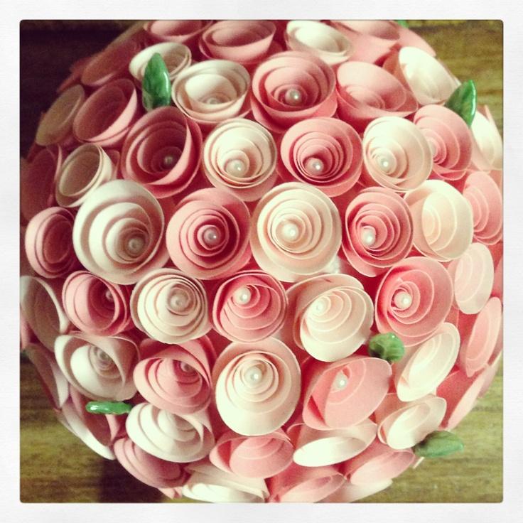 Make flower paper ball romeondinez make flower paper ball mightylinksfo